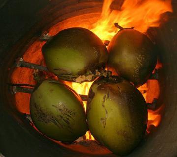 Qua 3 lần đốt, dừa Bến Tre tăng giá trị gấp ba